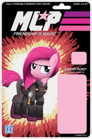 MLP Action Figure Label Cover - Pinkie Pie. by Atariboy2600