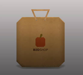 Bioshop grocery bag by miorio