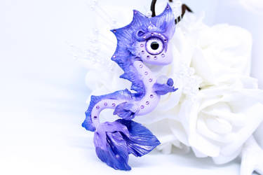 Lilac Sea Serpent Necklace by SophieXSmith