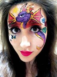 Spyro Facepaint by SophieXSmith