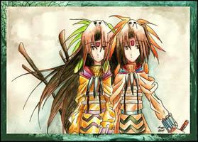 Shaman Twins by eikomakimachi