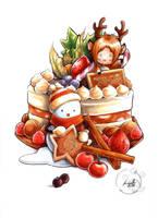 Christmas cake by eikomakimachi
