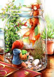 Through the water glass by eikomakimachi