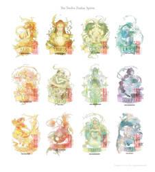 The Twelve Zodiac Spirits by eikomakimachi