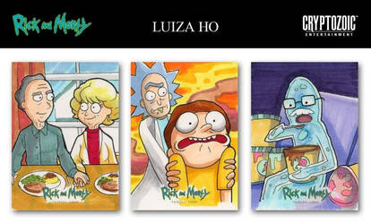 RICK AND MORTY TRADING CARDS SEASON 1 - Samples by eikomakimachi