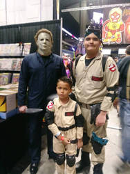 me and my little brother meet Michael Myers by Rantu25990