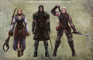 Characters... by einhajar