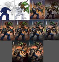 Wipshots for Warhammer fan art by einhajar