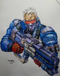 Soldier 76 by einhajar