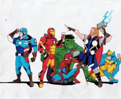Cartoon Marvel #1 by Julalesss