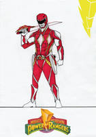 Red Power Rangers REDESIGN by Julalesss