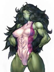 She-Hulk  by DDLCrossBreeze