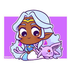 Allura and Espeon by sssonny