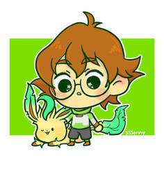Pidge and Leafeon by sssonny