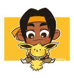 Hunk and Jolteon by sssonny