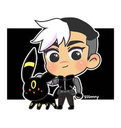 Shiro and Umbreon by sssonny