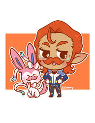 Coran and Sylveon by sssonny