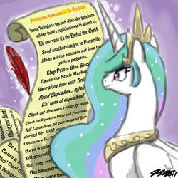 Princess Celestia's To-Do List by johnjoseco
