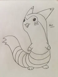 Furret, Pokecember Day 7 by joe40287