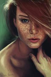 Red Head 3 by Patricia-Crvl