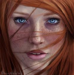 Red Head 4 by Patricia-Crvl