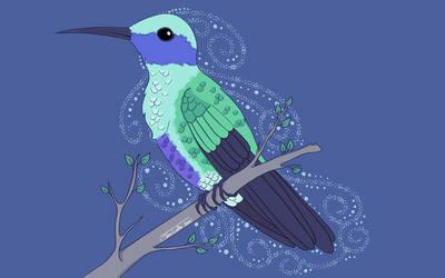 Hummingbird by JeanLouiseArt