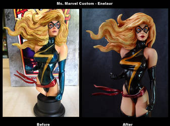 Before After Ms Marvel custom by Enelaur