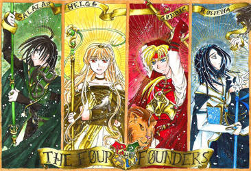 The Four Founders of Hogwarts by Ephirel