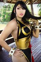SFV Chun Li | Black Dress / Battle costume by daniellevedo