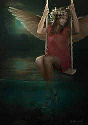 Angel on a Swing by devotion-graphics