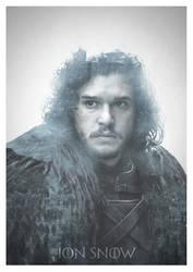 Jon Snow Double Exposure Print by devotion-graphics