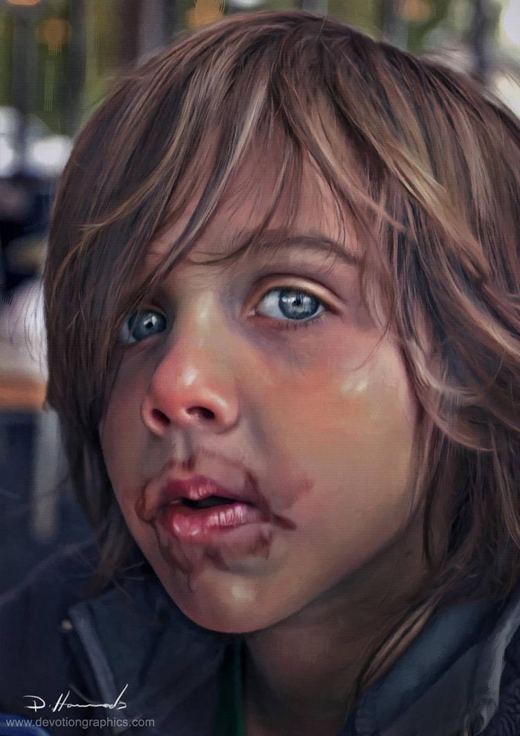 Young Boy Portrait commission by devotion-graphics