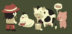 eggs, milk and... by Bisparulz