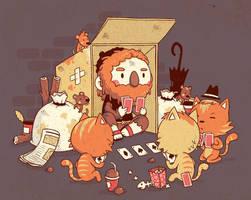 beggar vs the cats by Bisparulz