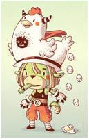 Mr. chicken hat by Bisparulz