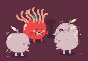 the red medusa by Bisparulz
