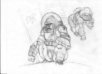 start space gorilla by maslina