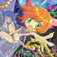 Mardi Gras Catgirls by artistscompany