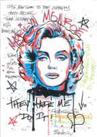 Marilyn Monroe by Evlisking