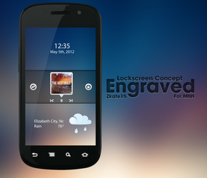 Engraved Lockscreen Concept by Zkate15