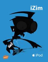 iPod Ads - iZim - Dib by omniferous