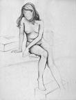 nude girl by crochunterali