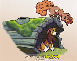 The Fox (Pokemon) and the Hound by RoosmaRoo