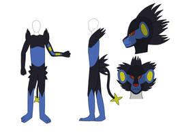 Luxray costume design by BladeTiger