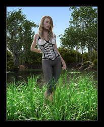 Tisha at the Jungle Pond by CitizenOlek