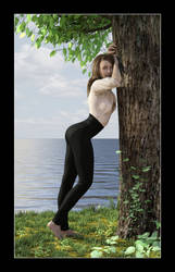 Veronica leaning on a tree 02 by CitizenOlek