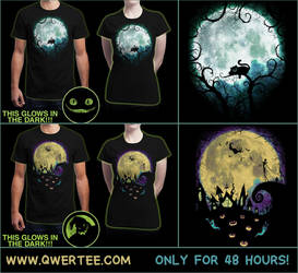 Wonderland Moon and Nightmare Moon T-Shirts by Nocte-Angelus