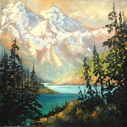 Mountain Glow by artistwilder