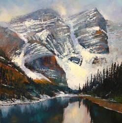 Moraine Mountains by artistwilder