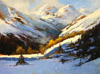 Mountain Sun by artistwilder